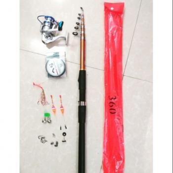 Bộ cần câu cá Shimano 3m6 máy 4000 kim loại