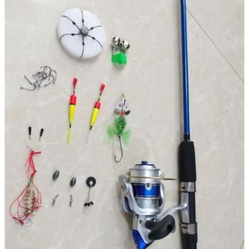 Combo bộ cần 2 khúc bạo lực shimano kèm phụ kiện câu cá