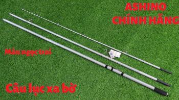 Cần câu lục câu biển 3 khúc Power King Ashino 4m25 X2 ngọc trai