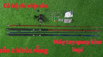 Bộ cần 2 khúc rỗng 2m7 máy AC 5000 câu lancer